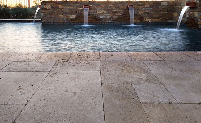 Travertine paver pool remodel Anaheim Hills, CA