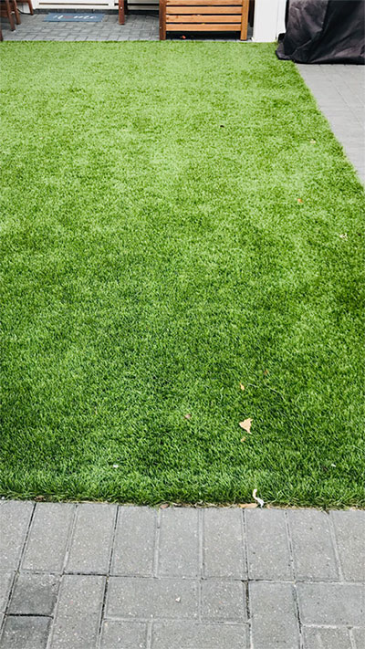 Artificial grass installation in Aliso Viejo, CA