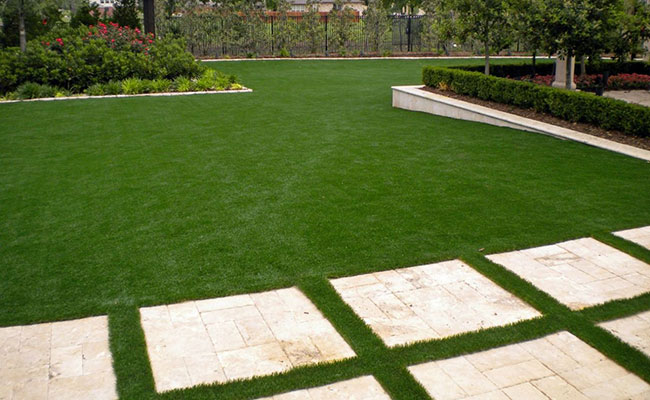 Artificial grass installed in Mission Viejo yard