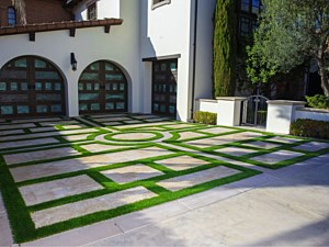 Artificial Grass Driveway in Highland Park