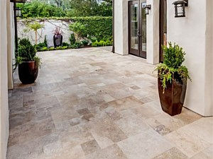 Travertine Paverstone Patio 005