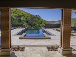 Travertine Paverstone Pool Deck 001