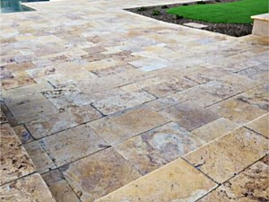 Travertine Paverstone Pool Deck 002