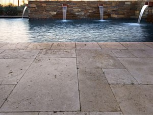 Travertine Paverstone Pool Deck 003