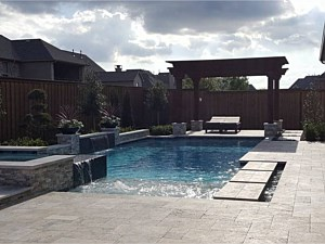 Travertine Paverstone Pool Deck 004