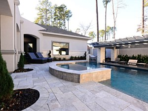 Travertine Paverstone Pool Deck 005
