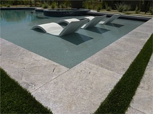 Travertine Paverstone Pool Deck 006