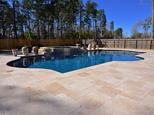 Travertine Paverstone Pool Deck 007