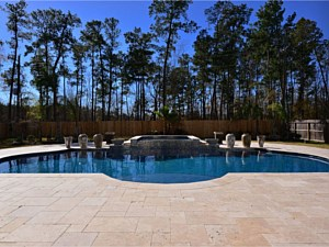 Travertine Paverstone Pool Deck 008